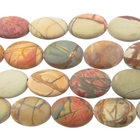 Red Creek Jasper 10 x 14mm oval mixed colors