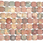 Red Creek Jasper 12mm square mixed colors