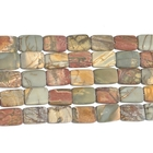Red Creek Jasper 8 x 14mm rectangle mixed colors
