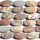 Red Creek Jasper 15 x 30mm oval mixed colors