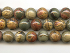 Red Creek Jasper 16mm round mixed colors