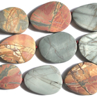 Red Creek Jasper 25 x 35mm freeform oval mixed colors