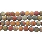 Red Creek Jasper 4mm round mixed colors