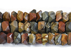 Red Creek Jasper 7 x 12mm faceted nugget mixed colors