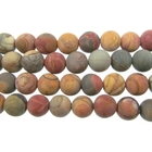 Red Creek Jasper 8mm round mixed colors