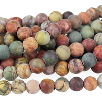 Image Red Creek Jasper 8mm round mixed colors