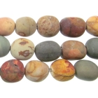 Red Creek Jasper 8 x 10mm nugget mixed colors