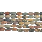 Red Creek Jasper 8 x 16mm rice oval mixed colors