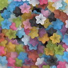 18mm five petal bell flower assorted colors Resin Beads
