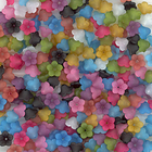 12mm five petal bell flower assorted colors Resin Beads
