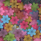 25mm six petal hippie flower assorted colors Resin Beads