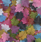 24mm oak leaf assorted colors Resin Beads