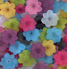 26mm surfer flower assorted colors Resin Beads