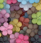 30mm five petal flower assorted colors Resin Beads