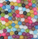 9mm round assorted colors Resin Beads