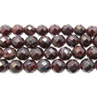Garnet 8mm faceted round wine red
