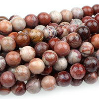 Red Porcelain Jasper 6mm round reds and creams