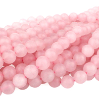 Rose Quartz 8mm round pink