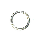 base metal 6mm open jumpring silver finish
