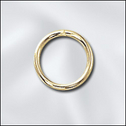 base metal 8mm open jumpring gold finish