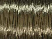 Image 2mm round coffee Rat Tail Satin Cord