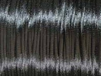 2mm round dark grey Rat Tail Satin Cord
