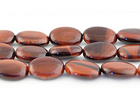 Red Tiger Eye 10 x 14mm oval dark red