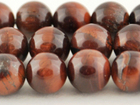 Red Tiger Eye 16mm round dark red
