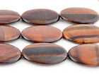 Red Tiger Eye 30 x 40mm oval dark red
