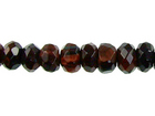 Red Tiger Eye 4mm faceted rondell dark red