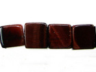 Red Tiger Eye 6mm cube dark red