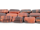 Red Tiger Eye 8 x 14mm rectangle dark red