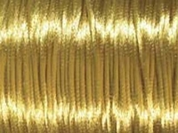 2mm round gold Rat Tail Satin Cord