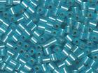 Miyuki cube 4mm aquamarine silver lined matte