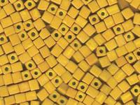 Image Miyuki cube 4mm mustard  yellow opaque matte
