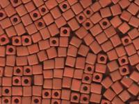 Miyuki cube 4mm terracotta red opaque matte
