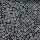 Miyuki cube 4mm silver grey metallic matte