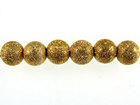 Metal Beads 4mm round stardust base metal gold plate