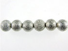 Image Metal Beads 4mm round stardust base metal silver plate