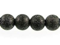 Image Metal Beads 6mm round stardust base metal gunmetal