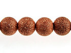 Image Metal Beads 6mm round stardust base metal copper plate
