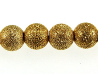 Image Metal Beads 6mm round stardust base metal gold plate