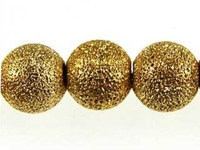 Image Metal Beads 8mm round stardust base metal gold plate