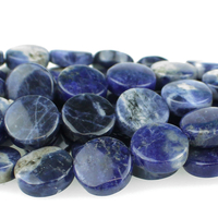 Sodalite 12mm coin blue
