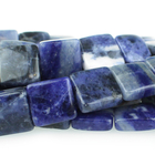 Sodalite 12mm square blue
