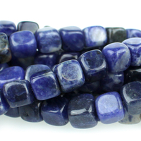 Sodalite 7mm cube blue