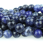Sodalite 8mm round blue