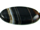 Sardonyx agate 15 x 30mm oval black with white banding