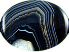 Sardonyx agate 30 x 40mm oval black with white banding