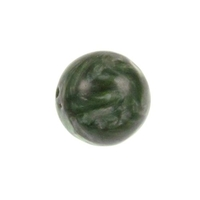 Seraphinite 14mm round mossy green